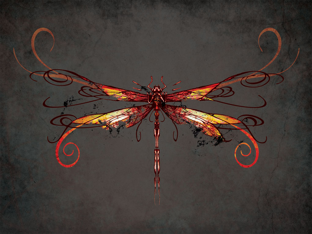 Dragonfly Fire Element artwork